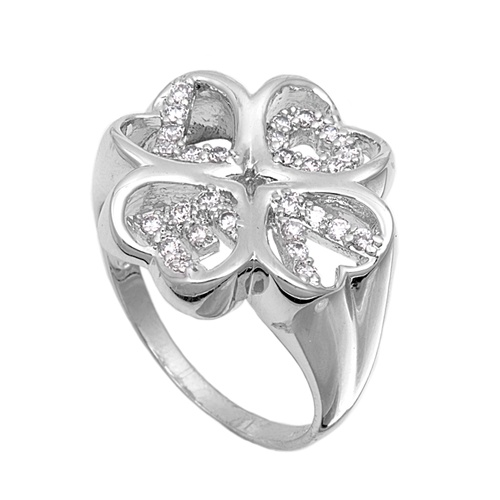 Cindy's Silver Ring with Clear CZ