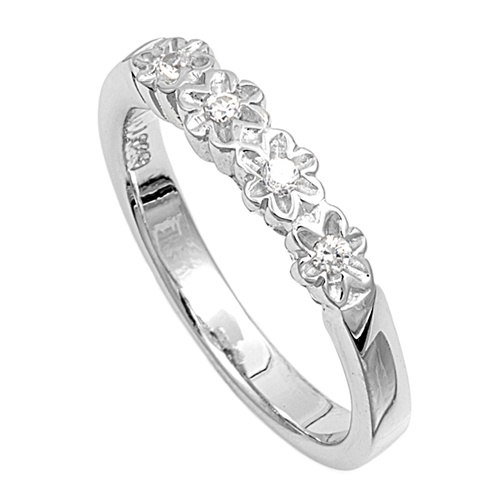 Bridget's Silver Ring with Clear CZ
