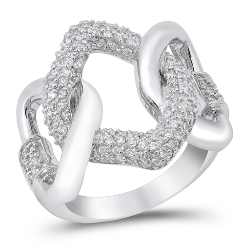 Candace's Silver Ring with Clear CZ