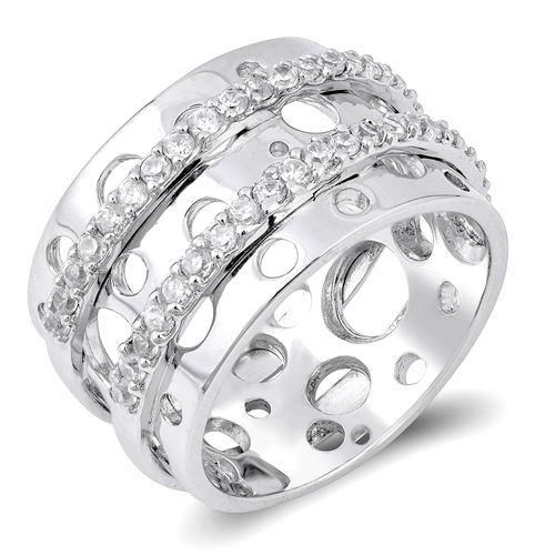 Kristine's Silver Ring with Clear CZ