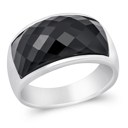 Wilma's Silver Ring with Black CZ