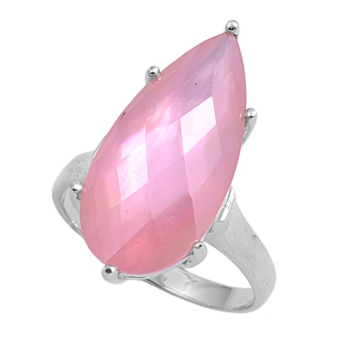 Maureen's Silver Ring with Pink