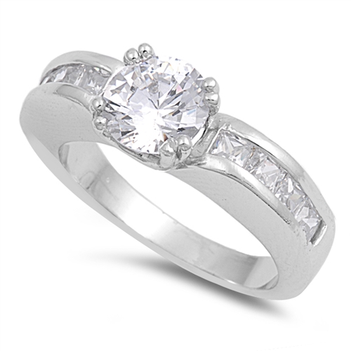 Pauline's Silver Ring with Clear CZ