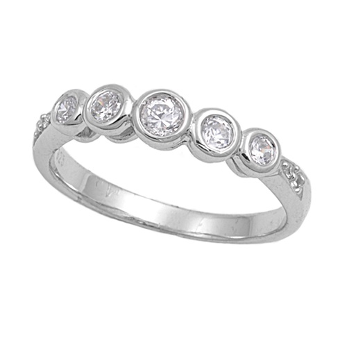 Ellen's Silver Ring with Clear CZ