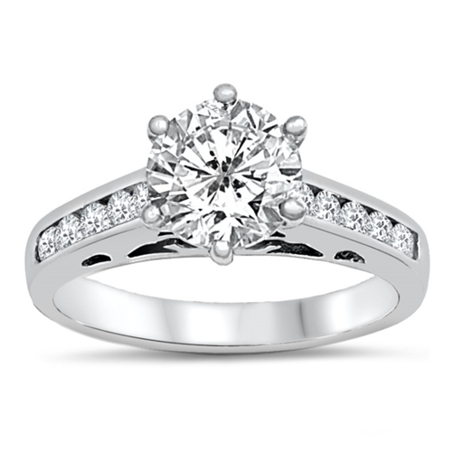 Brandi's Silver Ring with Clear CZ