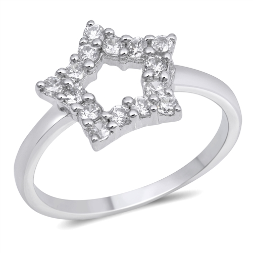 Catherine's Silver Ring with Clear CZ