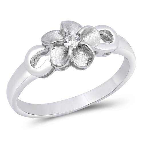 Rebecca's Silver Ring with Clear CZ