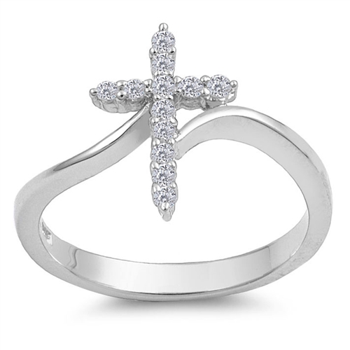 Sharon's Silver Ring with Clear CZ