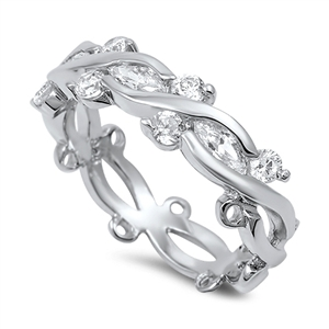 Helen's Silver Ring with Clear CZ