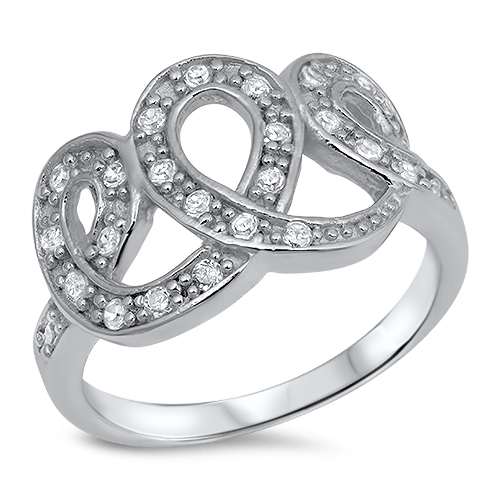 Nancy's Silver Ring with Clear CZ