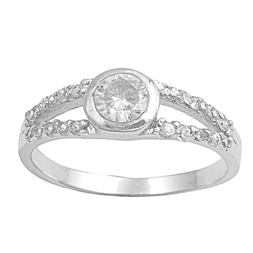 Elizabeth's Silver Ring with Clear CZ