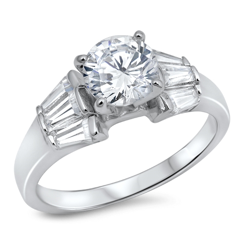 Bethany's Silver Ring with Clear CZ