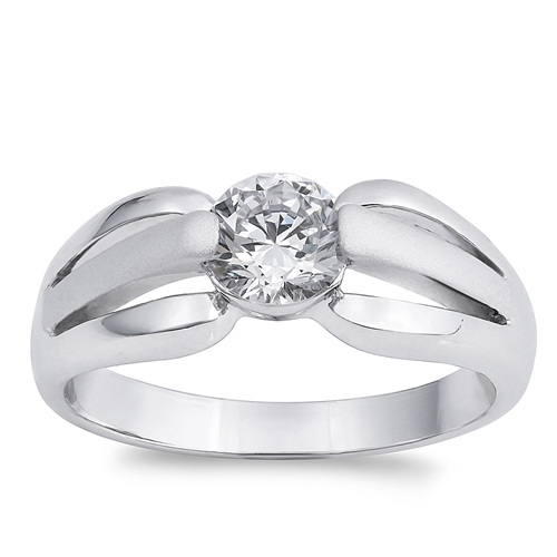 Valerie's Silver Ring with Clear CZ