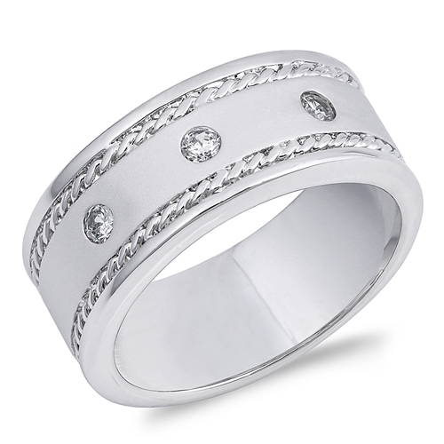 Alicia's Silver Ring with Clear CZ