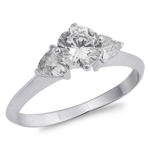 Kim's Silver Ring with Clear CZ