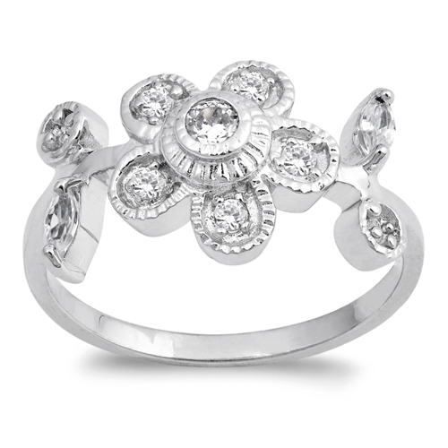 Tiffany's Silver Ring with Clear CZ