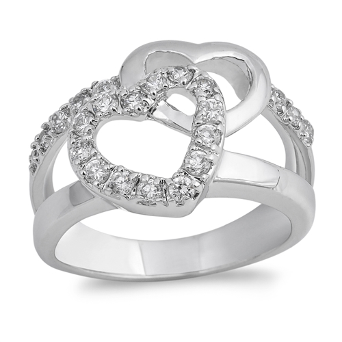 Rita's Silver Ring with Clear CZ - Heart
