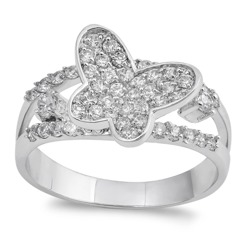 Tracy's Silver Ring with Clear CZ