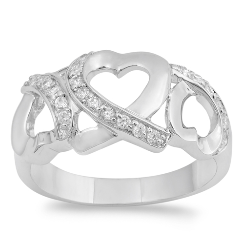 Paula's Silver Ring with Clear CZ