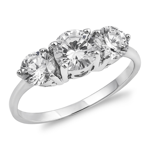 Heather's Silver Ring with Clear CZ