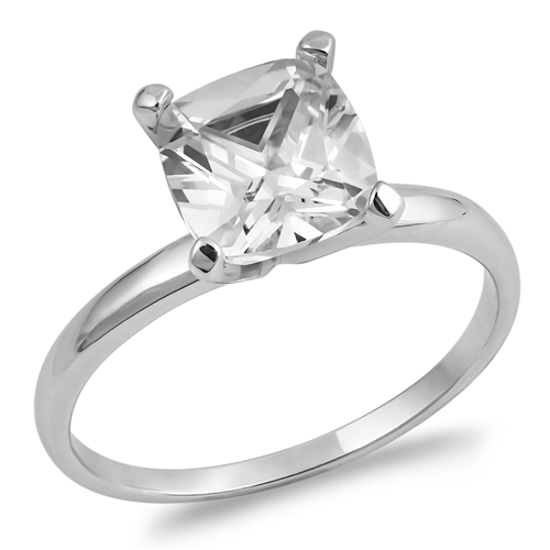 Isabel's Silver Ring with Clear CZ