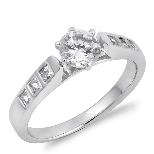 Debbie's Silver Ring with Clear CZ