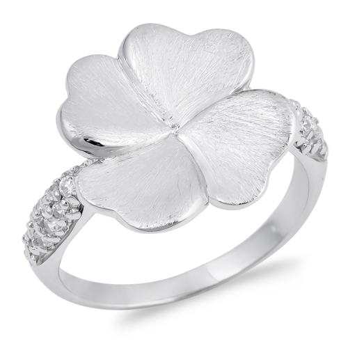 Rachel's Silver Ring with Clear CZ