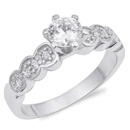 Susan's Silver Ring with Clear CZ