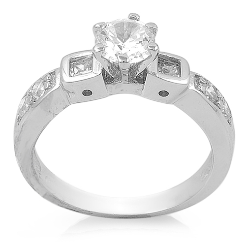 Patricia's Silver Ring with Clear CZ