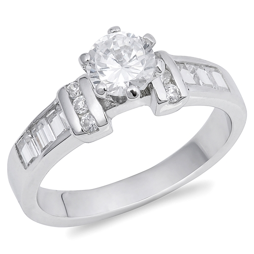 Lucy's Silver Ring with Clear CZ