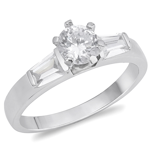 Natalie's Silver Ring with Clear CZ