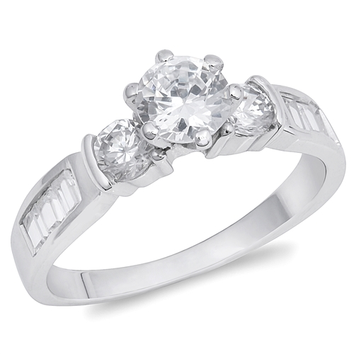 Maureen's Silver Ring with Clear CZ