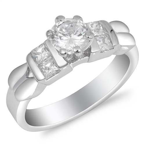 Annette's Silver Ring with Clear CZ