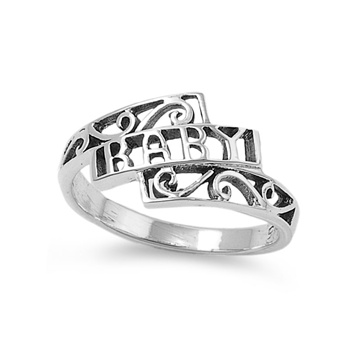 Nancy's Silver Baby Ring with CZ - Baby