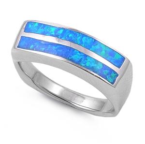 Silver Ring w/Lab Opal 10