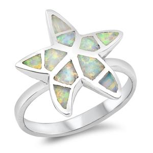 Silver Ring w/Lab Opal 100