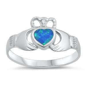 Silver Ring w/Lab Opal 105