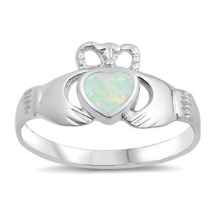 Silver Ring w/Lab Opal 106