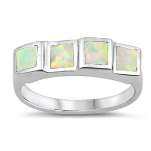 Silver Ring w/Lab Opal 109