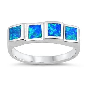 Silver Ring w/Lab Opal 111