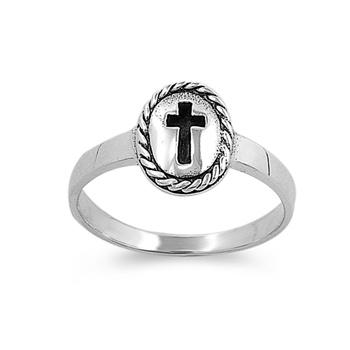 Kathleen's Silver Ring - Cross