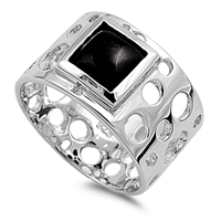 Marcia's Silver Ring with Black Onyx Stone
