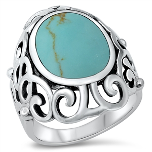 Melinda's Silver Ring with Turquoise Stone