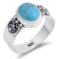 Loretta's Silver Ring with Turquoise Stone
