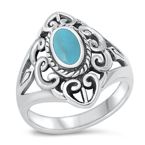 Lori's Silver Ring with Turquoise Stone