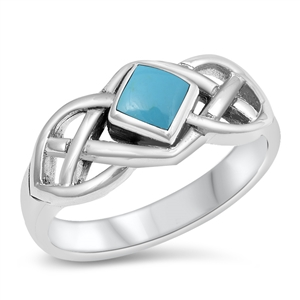 Louise Silver Ring with Turquoise Stone