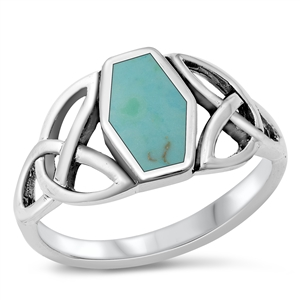 Julia's Silver Ring with Turquoise Stone
