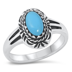 Paula's Silver Ring with Turquoise Stone
