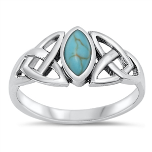 Judy's Silver Ring with Turquoise Stone