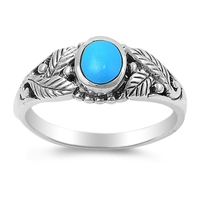 Christina's Silver Ring with Turquoise Stone